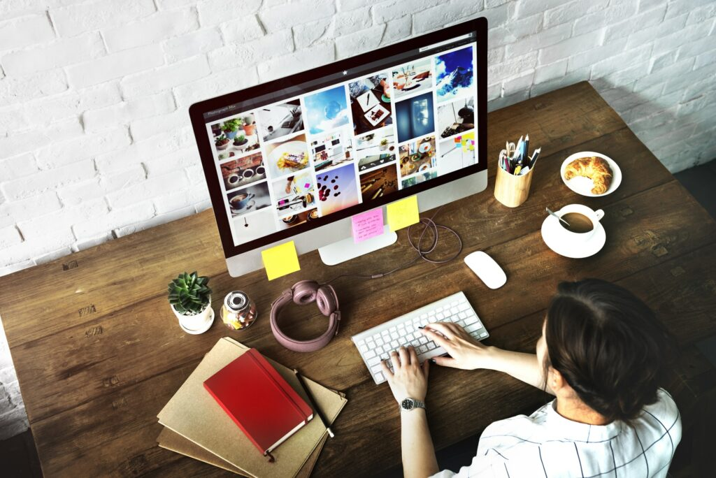 Ideas Creative Occupation Design Studio Computer Working Concept